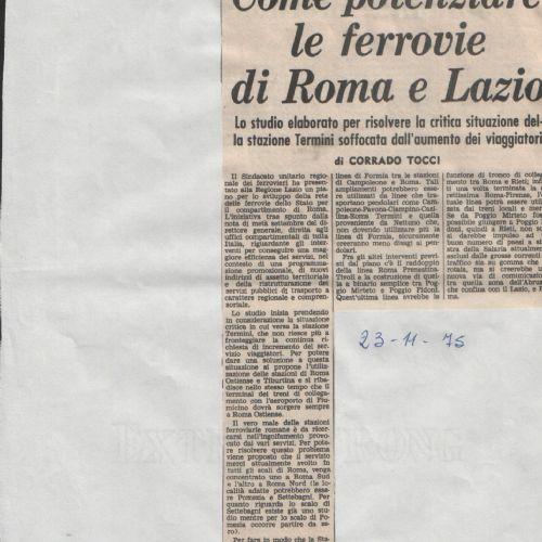 I Trasporti nel Lazio